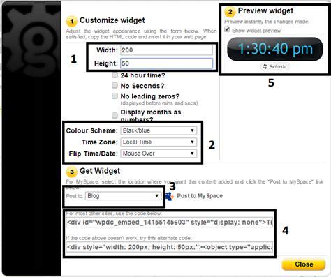 cara membuat website dengan kode html cara membuat gadget jam dengan tanggal pada blog belajar