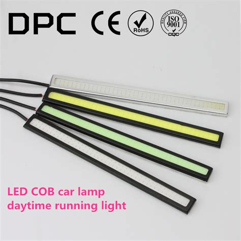 Drl Daytime Running Led 17cm ultrabright 17cm dc12v led cob drl car light daytime