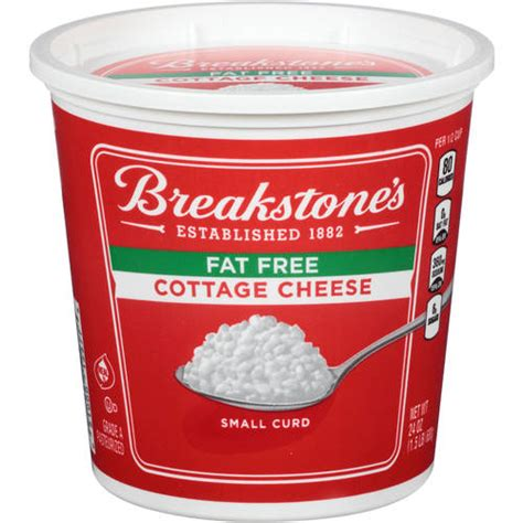Non Cottage Cheese Nutrition Facts by Breakstone S Free Small Curd Cottage Cheese 24 Oz