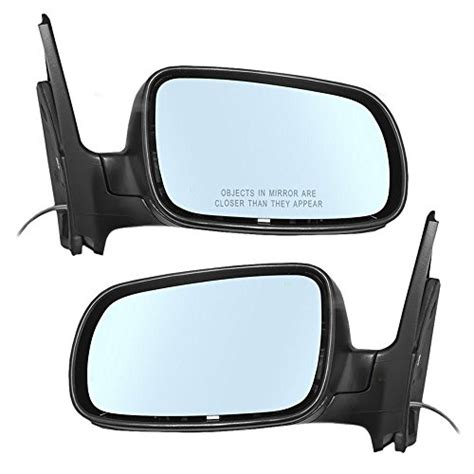 pair set manual remote side view mirrors  blue tinted glass replacement  volkswagen