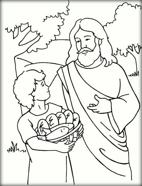 coloring pages jesus first miracle jesus feeds 5000 coloring pages for kids color zini