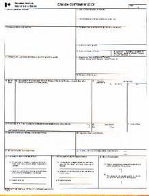 canadian customs invoice template canada customs invoice template