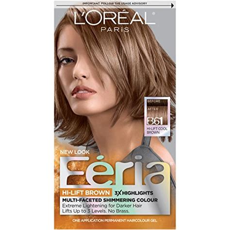 loreal permanent colour permanent colour feria preference pakcosmetics l or 233 al feria permanent hair color b61 downtown brown hi lift cool brown buy