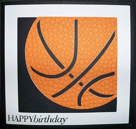 Basketball Birthday Card Another Basketball Card Sports Mania Cartridge W Embossed