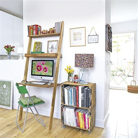 Lean To Desk by White Home Office With Lean To Desk Housetohome Co Uk