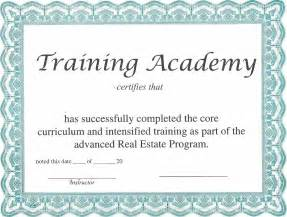 Training Certification Template Certificate Of Training Template Training Certificate Template
