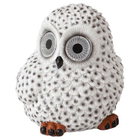 Buy Tesco Snowy Owl Solar Light From Our Solar Lights Owl Solar Lights