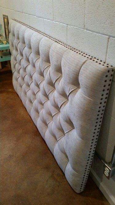 King Upholstered Headboard With Nailhead Trim King Sized Headboard Tufted Upholstered Velvet Fabric Nailhead Trim Custom Wall Mounted