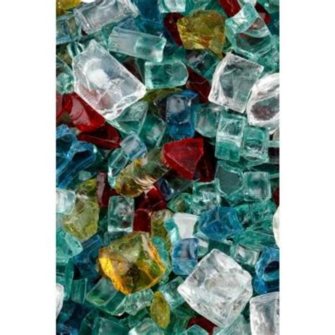 Fireplace Glass Rocks Home Depot by Firecrystals 15 Lbs Tuscan Garden Premier Glass
