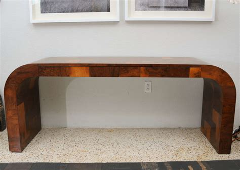 Patchwork Desk - olive burl patchwork desk console by paul at 1stdibs