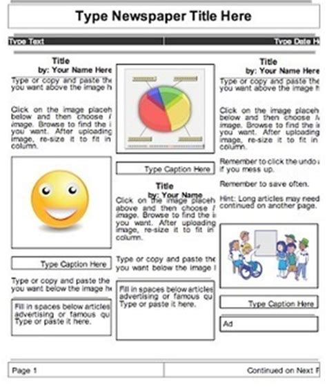 Drive Newspaper Template newsletters in using drive in the classroom scoop it