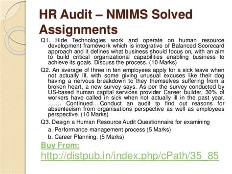 Mba Hr Assignments by Nmims Solved Assignments Dec 2016