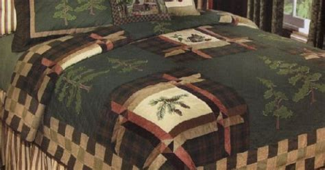 cabin bedding forest trail quilt and lodge bedding