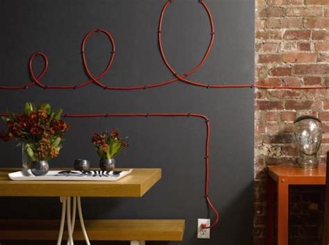 turn electrical wires into cable wall homeli