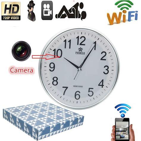 hd wifi clock for ios wifi 720p hd wall clock p2p dvr home security