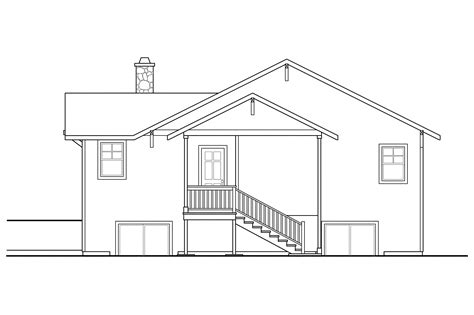 house plans for sloping lots in the rear bungalow house plans lone rock 41 020 associated designs