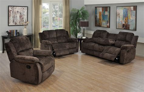 chenille reclining sofa 3 piece chocolate chenille reclining sofa loveseat and