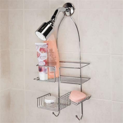 Shower Rack Hanging by Hanging Shower Organizer Chrome Bath Caddy Bathroom Soap