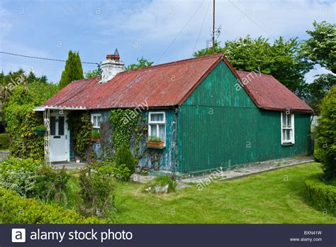 corrugated iron cottage near taghmon southern ireland