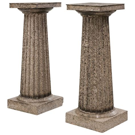 Pedestals For Sale Pair Of Regency Period Granite Column Pedestals For Sale