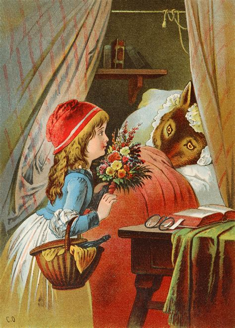 little red riding hood and wolf illustration file offterdinger rotkappchen 2 jpg wikimedia commons