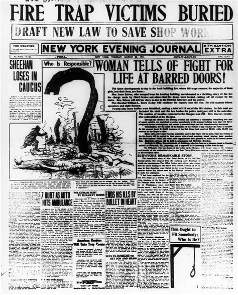 times law section trial the triangle shirtwaist factory fire a turning