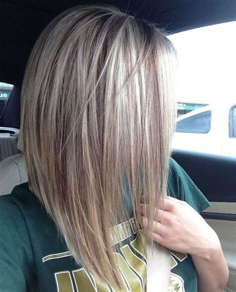 how to bob long hair with a rubber band 25 layered long bob hairstyles and lob haircuts 2018