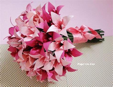 Bouquet Origami - 17 best ideas about origami bouquet on paper