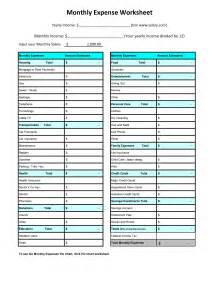 monthly expense template best photos of free printable monthly bill worksheet