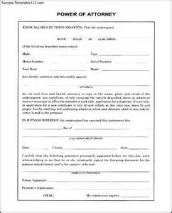 free poa template free blank power of attorney form sle templates