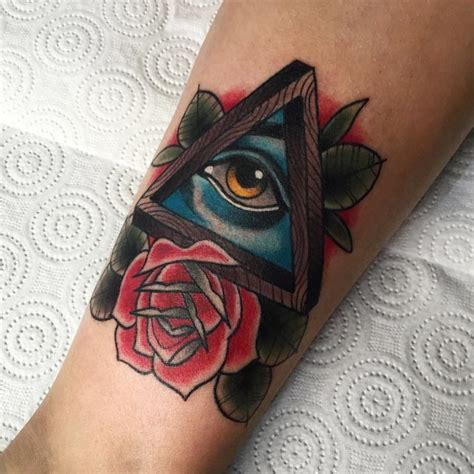 rose eye tattoo 40 triangle eye tattoos collection