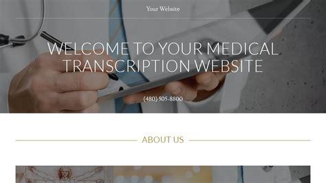Medical Transcription Website Templates Godaddy Transcription Website Templates