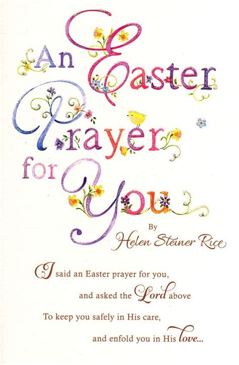A Greeting An Advice A Question On Easter by Helen Steiner Rice Easter Prayer Greeting Card Greetings