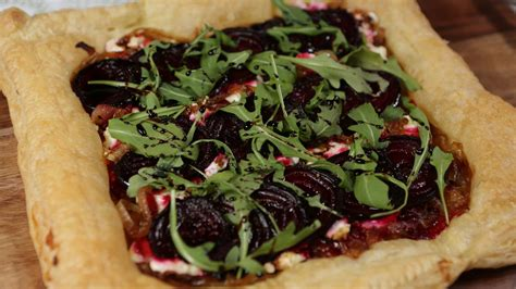 goat cheese tart beet and goat cheese tart with balsamic reduction recipe gac