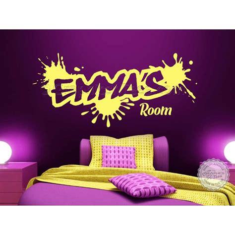 personalised graffiti wall stickers boy girls bedroom