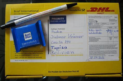 Adressaufkleber Paket International by Bienvenido En Esmoraca Schokolade F 252 R Die Kinder Von