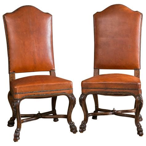 leather upholstered dining room chairs set of ten italian leather upholstered chairs for sale at