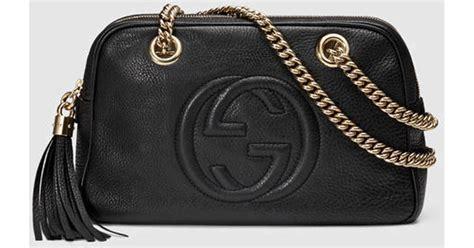 J Gucci Soho Kas gucci soho leather chain shoulder bag in black black