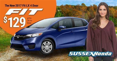 Honda Fit Lease by 2017 Honda Fit Lx 6mt Lease Special Sussex Honda