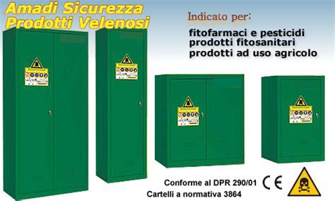 armadi per fitofarmaci armadio conservazione fitofarmaci