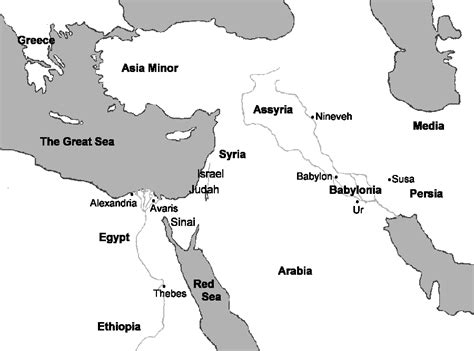 Ancient Near East Map Outline by Ancient Unit Study Texashomeschool