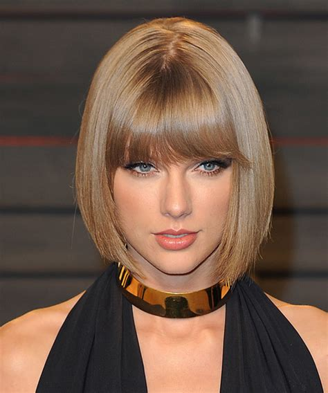 swift taylor new hair style images taylor swift medium straight formal bob hairstyle with