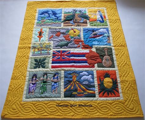 Hawaiian Baby Quilt by Hawaiian Style Quilt Baby Blanket Quilted Wall