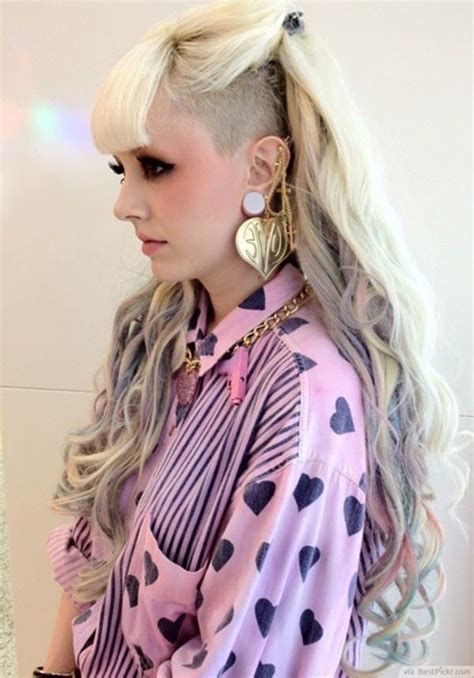 cute long spiked punky faux ponytail hairstyles with banana clip 56 punk hairstyles to help you stand out from the crowd