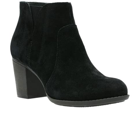 clarks enfield senya womens suede ankle boots chelsea