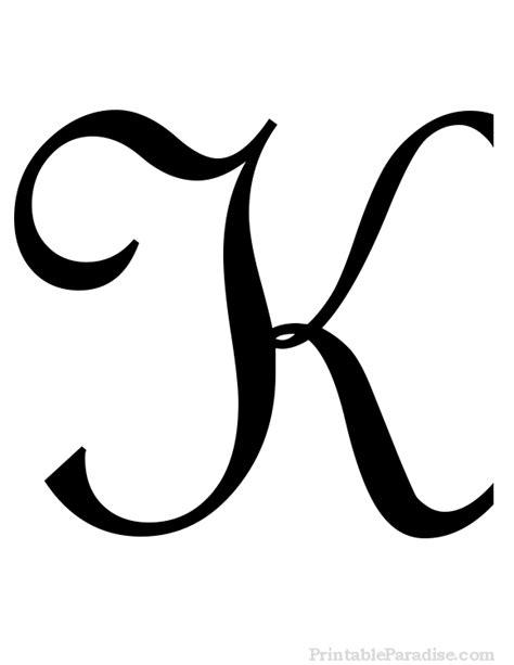 cursive letter k boxfirepress