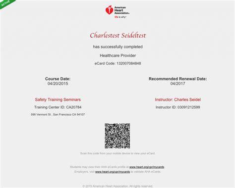 ahainstructornetwork pdf card template sacramento american association certification