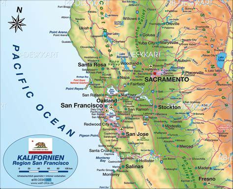 San Francisco On A World Map by San Francisco California Map