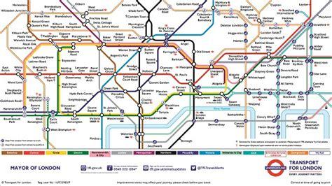 the underground map underground traveller information visitlondon