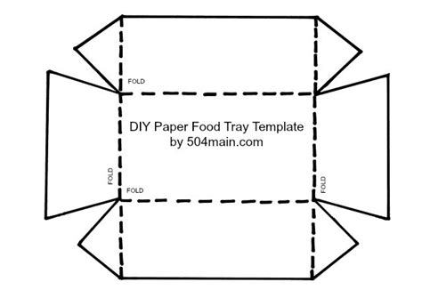 paper food tray template 504 by lefevre diy paper food tray template